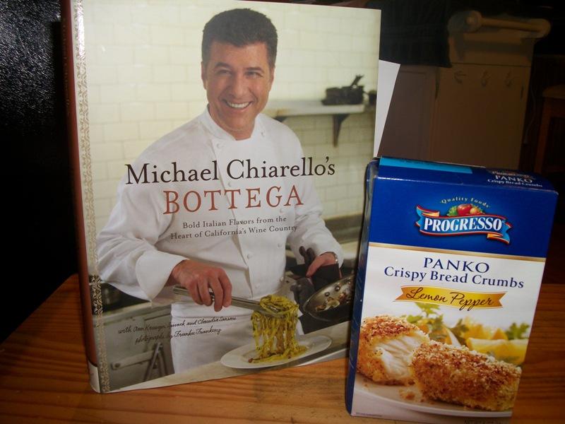 Porgresso Lemon Pepper Panko and Chef Michael Chiarello Book