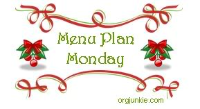 Monday Meal Plan Day…