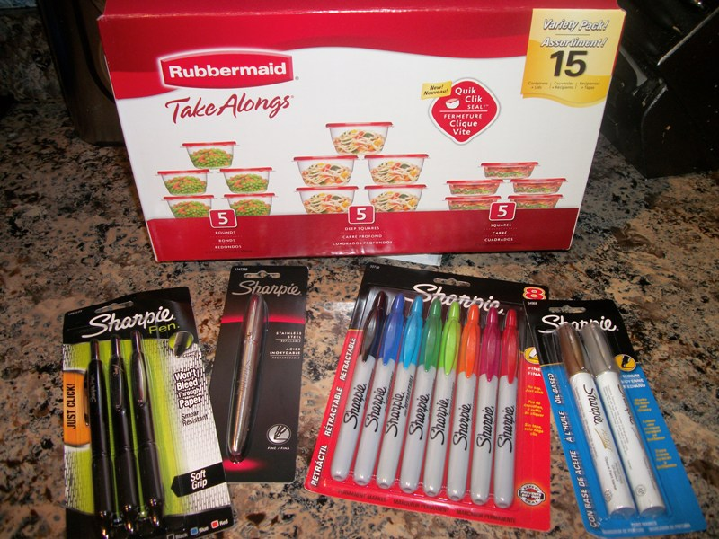 Rubbermaid & Sharpie Holiday Goodies Giveaway