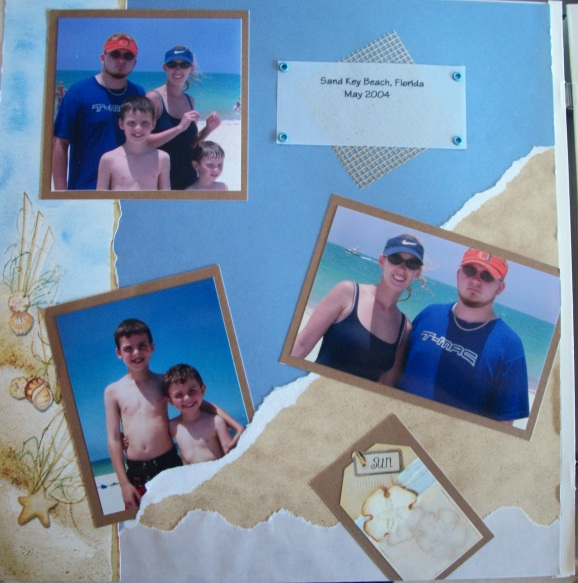 Scrapbook Friday – Simple paper tearing technique