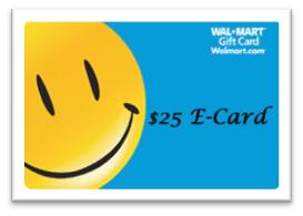 $25 Wal-Mart E-Gift Card Giveaway