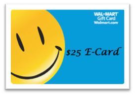 $25 Wal-Mart E-Gift Card Giveaway