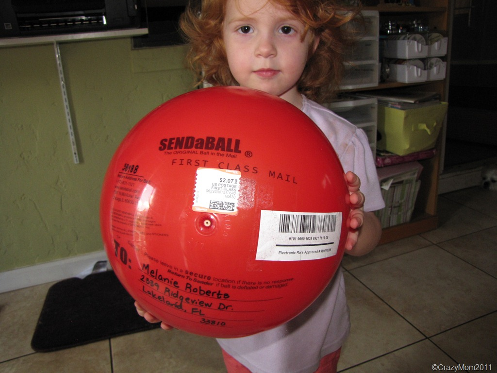 OMG Check this out .. SendaBall in our Mail today