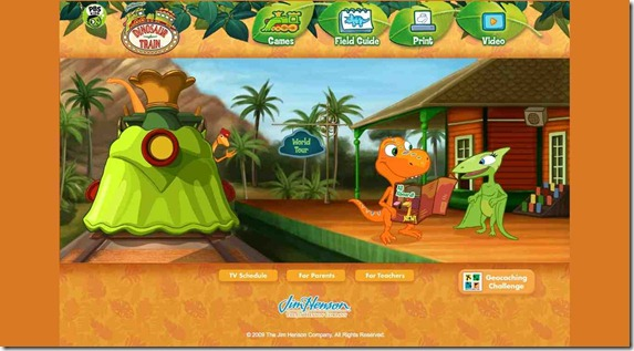 DinoTrain Website screenshot