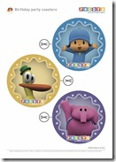 Pocoyo Birthday Party Coasters