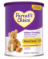 Parent's Choice Infant Formula Savings Sweepstakes