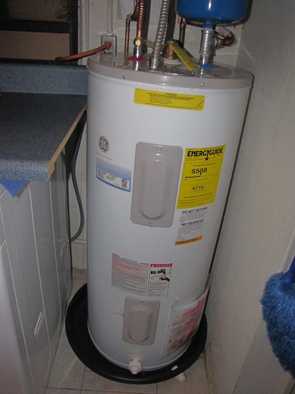 Monday Clean & Organize it: A New Water Heater