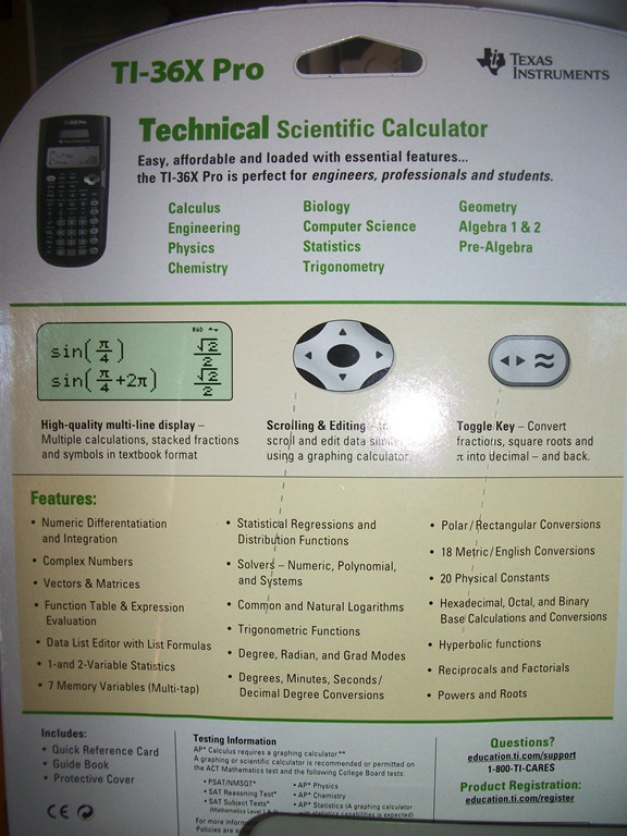 Texas Instruments TI-360X Pro Calculator {Review} - 2 Boys + 1 Girl
