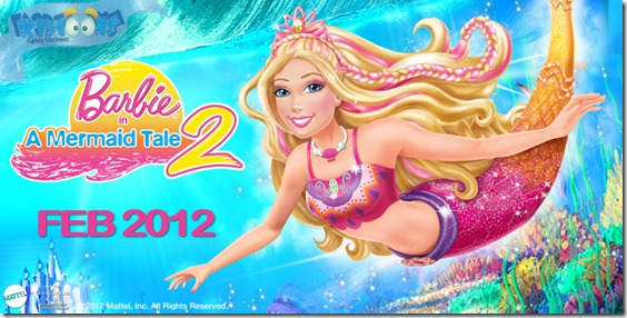 Barbie in A Mermaid Tale 2 #Kidtoon February Giveaway