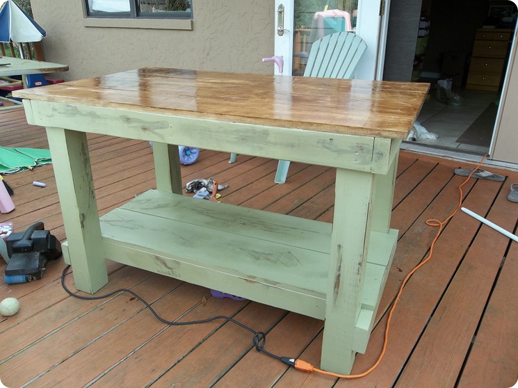 DIY Kitchen Table ala Pinterest -  Boys +  Girl ud One Crazy Mom