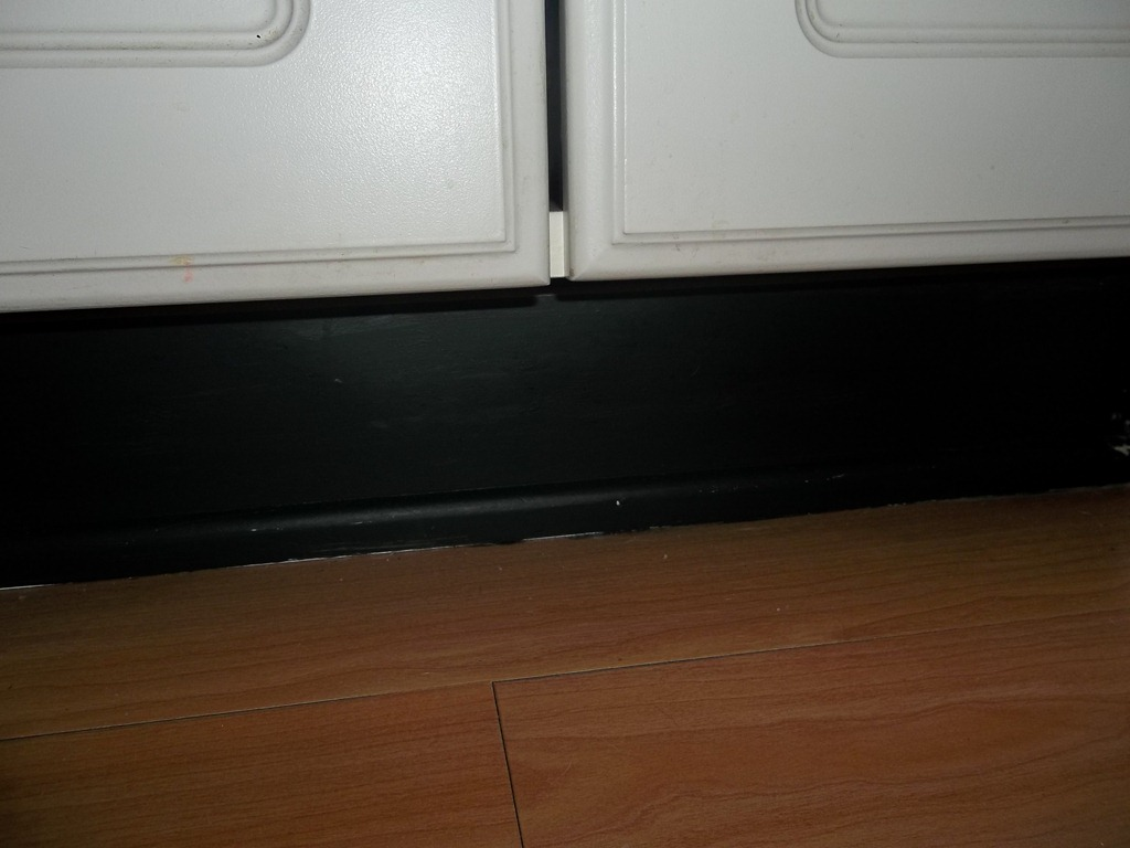 Black Kitchen Unit Kickboards