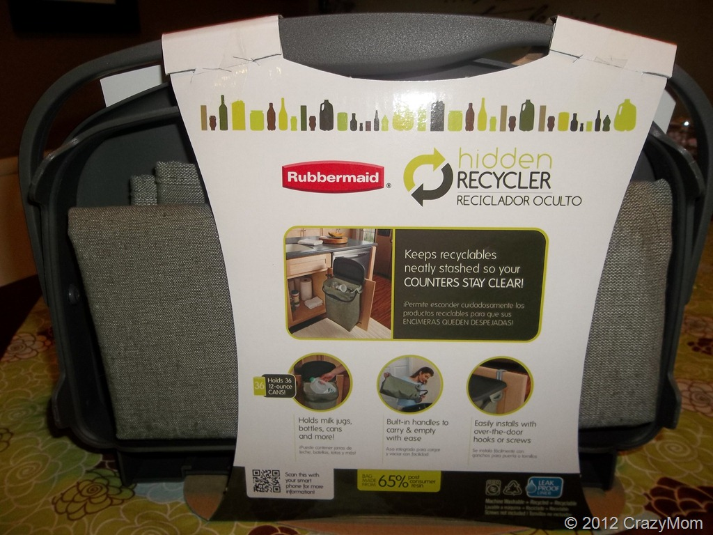 Help recycle with the new @Rubbermaid Hidden Recycler in time for Earth Day {Review & Giveaway}