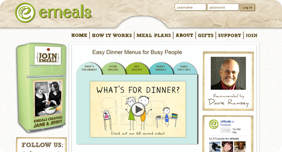 e-meals Meal Plan {Review & Giveaway}