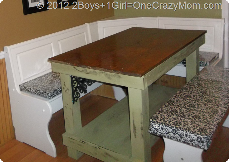 DIY Kitchen Table ala Pinterest