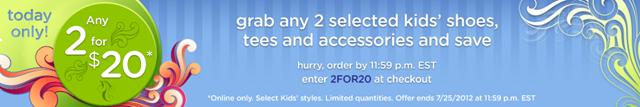 HOT Crocs.com Deal 2 for $20!!!