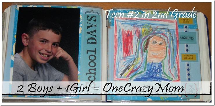 Scrapbook idea for School Days 1