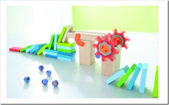 So much fun with HABA's Domino Building Blocks #Giveaway