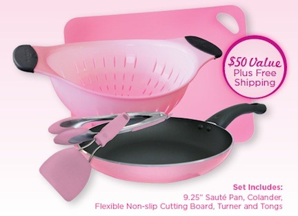 Free Pink Cooking Set from P&G with a $30 purchase is BACK!!!!