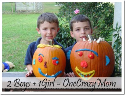 Pumpkin decorating with Magic clay