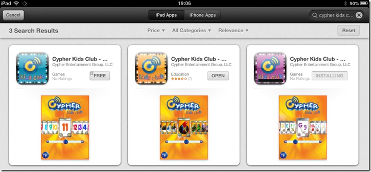 #CypherKidsClub for the iPad