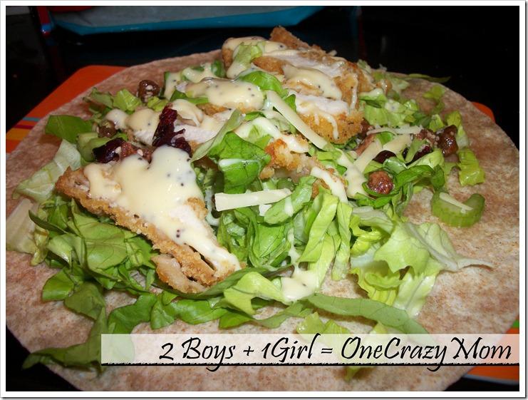 Simple Chicken Wraps with Tyson Crispie Chicken #Meals Together 3