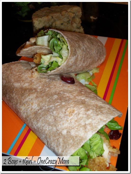 Simple Chicken Wraps with Tyson Crispie Chicken #Meals Together