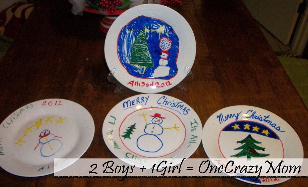 christmas tradition decorate a plate 2012 - Decorative Christmas Plates