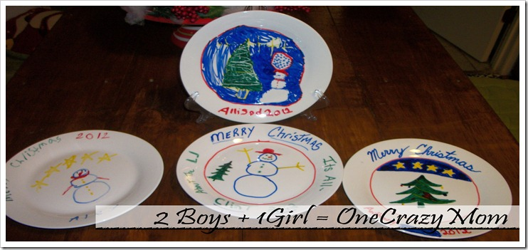 Christmas Tradition decorate a plate 2012