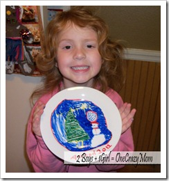 Christmas Tradition decorate a plate 5