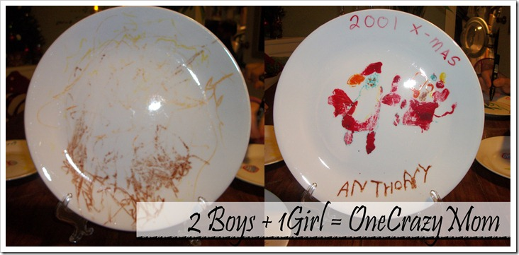 Christmas Tradition decorate a plate from years past