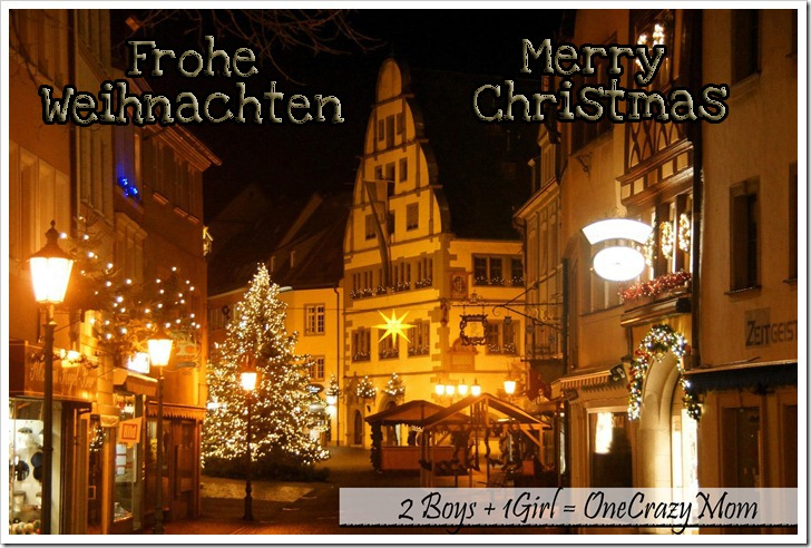 Merry Christmas and Frohe Weihnachten to all