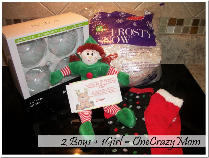 our elf becky brought crafts to do - What To Do Christmas Day