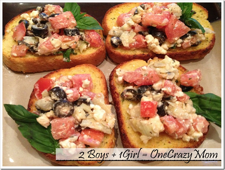 #FrozenFavorites with a Texas Toast Tomato topping