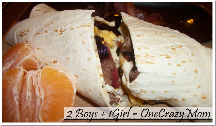 #JennieO4kids made some simple breakfast in a wrap