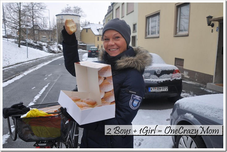 Even the German Polize likes Krapfen copy