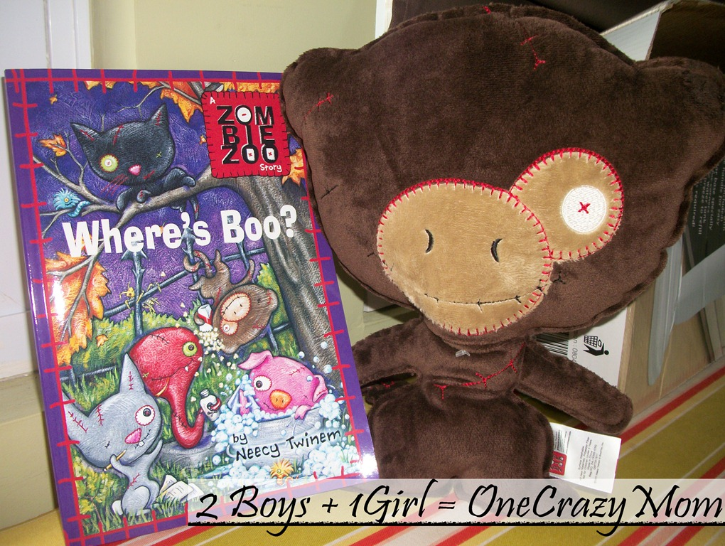 """Follow our ZombieZoo Book tour and enter to win the """"Where's Boo?"""" Book #Review"""