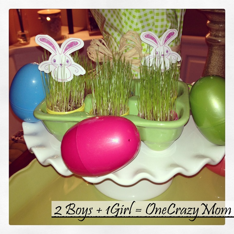 Grow your own #Easter Table Decoration #DIY