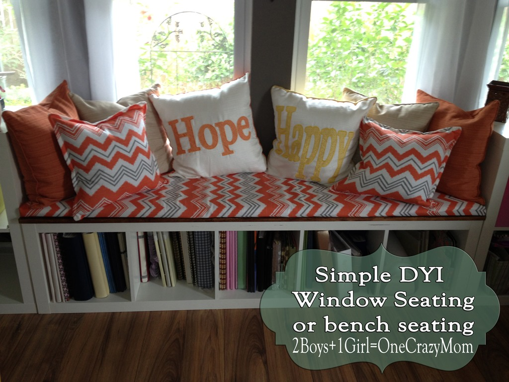 Create a window seat #DIY and make it look like a million bucks