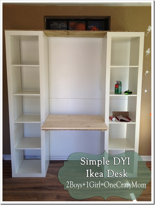 Create your own desk with IKEA Expedite and some personal