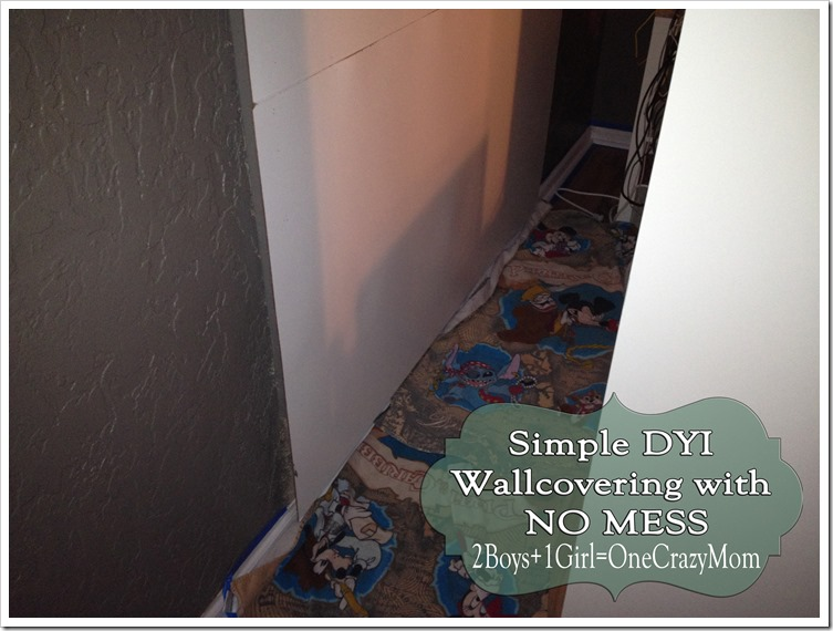 Cover your Walls with Fabric Simple #DYI and can be replaced as often as you like