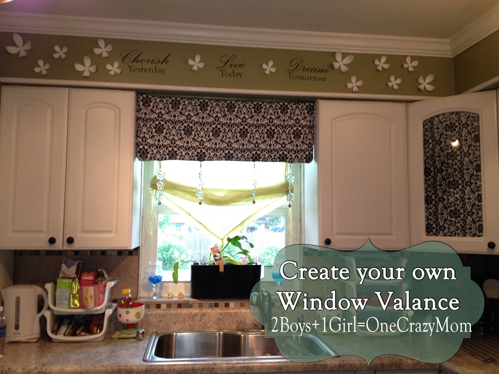 Window Valance Living Room Fabric Valances For Windows