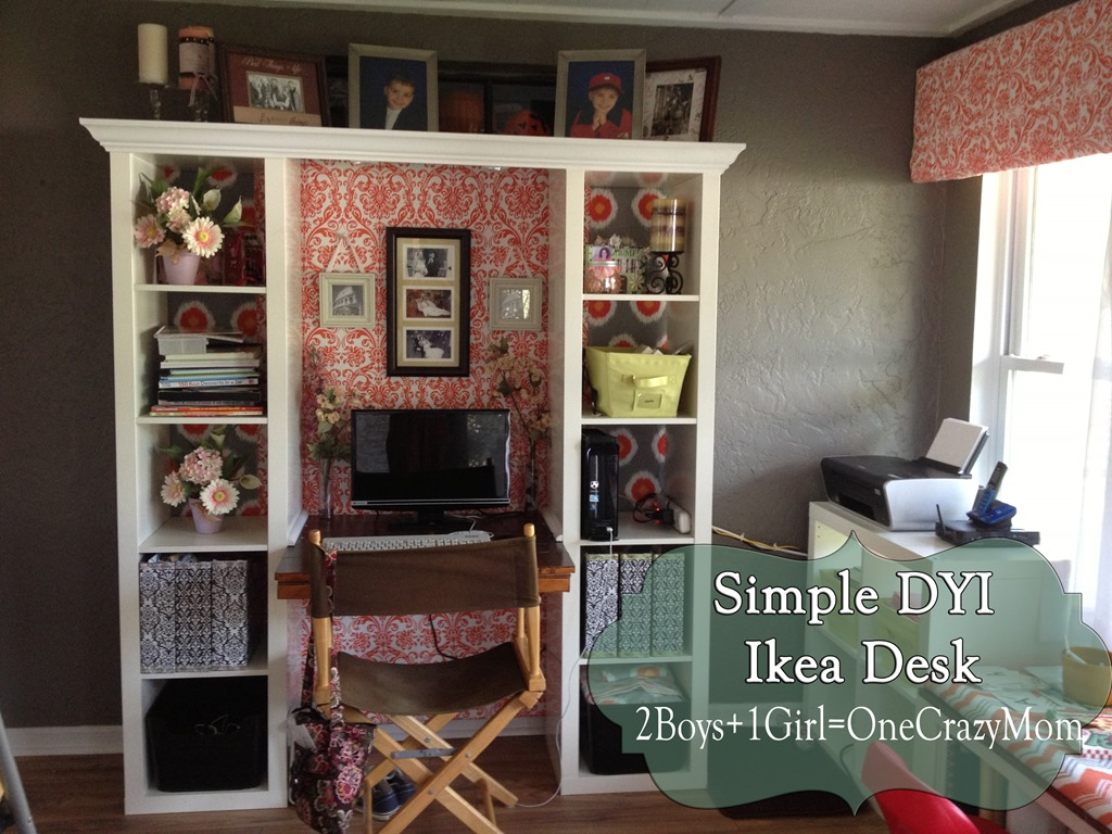 Finished Ikea Expedite Desk Creation Dyi Project So Simple And Looks Great