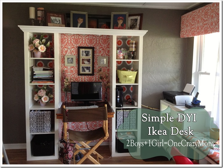 Finished IKEA Expedite desk creation #DYI project so simple and looks great
