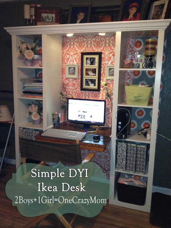 Finished Ikea Expedite Desk Creation Dyi Project