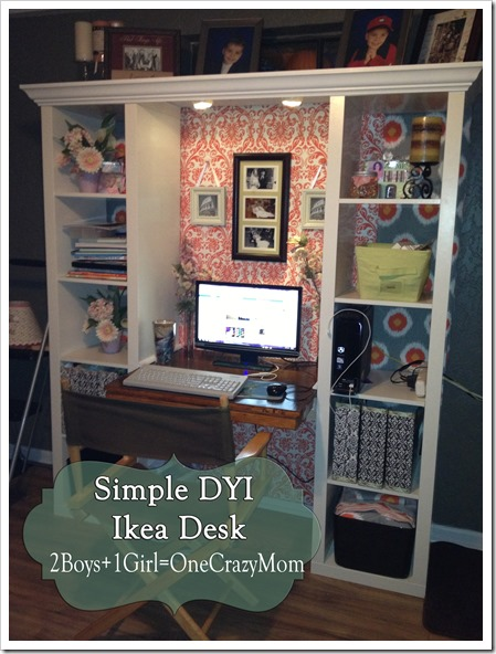 Finished IKEA Expedite desk creation #DYI project