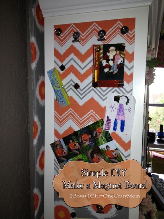 Make your own custom #DIY Magnet Board