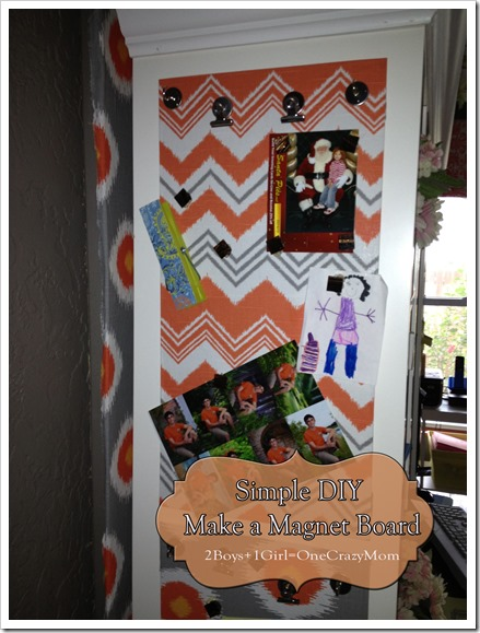 Make your own #DIY magnet board in no time; simple and cheap Finished project