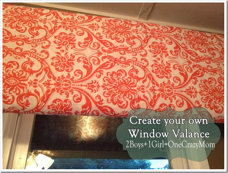 Make your own #DYI window Valance Simple and quick in any color fabric