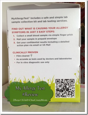 My Allergy Test simple in home testing kit 2