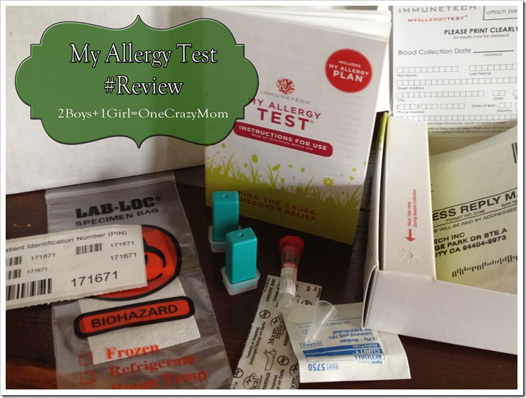 My Allergy Test simple in home testing kit